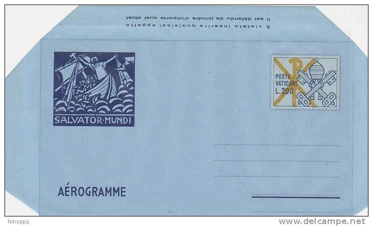 Vatican City-1978 A15  Salvator Mundi Lire 200 Unusesd Aerogramme - Collections