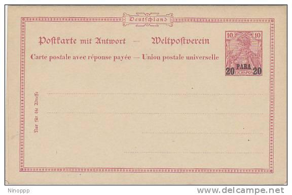 Germany-20 PARA 20 Unused Post Card Including Return Card - Germany
