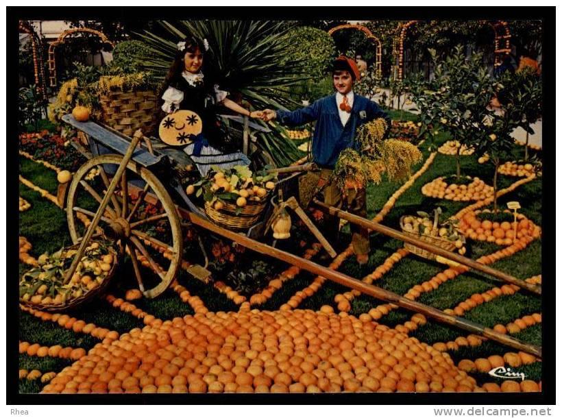 06 Menton Groupe Folklorique Fete Du Citron Orange D06D K06083K C06083C RH077840 - Menton