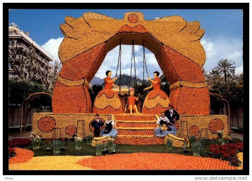 06 Menton Groupe Folklorique Fete Du Citron Orange Balancoire D06D K06083K C06083C RH077846 - Menton
