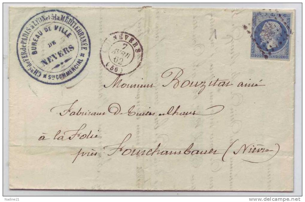 014. LAC N°14 - Càd De Nevers (NIEVRE) - 1862 - 1849-1876: Classic Period