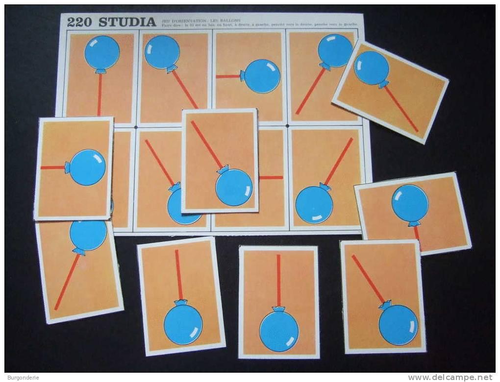 Maternelle / Ancien Carton De Jeux Avec Images / JEU D´ORIENTATION / LES BALLONS / STUDIA 220 - Jeux De Société