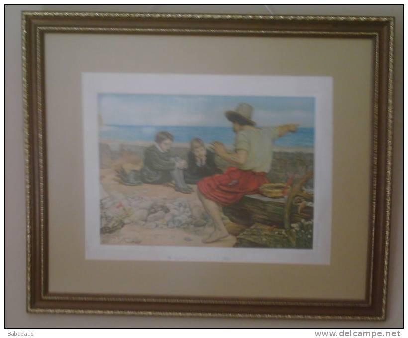 The Boyhood Of Raleigh, E. Millais, Print - Prints