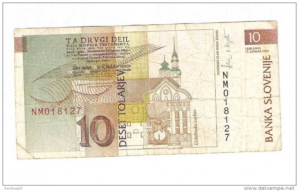 SLOVENIE 10 ENA  1992  TTB - Slovénie