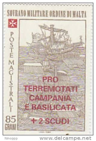 SMOM-1981 Pro Earthquake Relief 186 MNH - Malte (Ordre De)