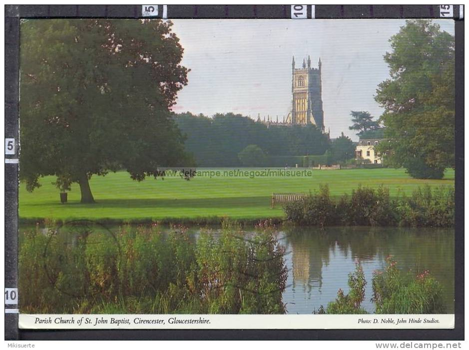 N9802 GLOUCESTERSHIRE CIRENCESTER PARISH CHURCH OF ST. JOHN BAPTIST VG - Inghilterra