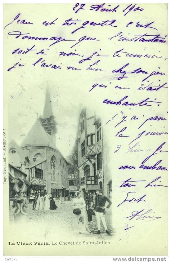 Architecture - Vieux Paris 75 - Carte Pionnière 1900 - Monuments