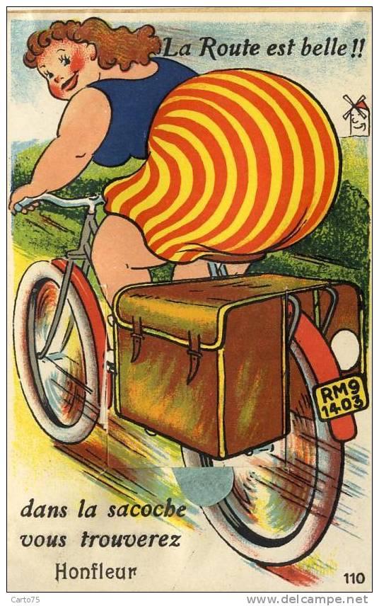 Honfleur 14 - Carte à Système Vélo - Femme - Honfleur