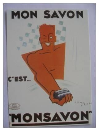 Mon Savon   Edts Nugeron   Reproduction Illustration Carlu - Publicité