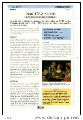 Reproduction De Les Joueurs De Cartes, De Paul Cézanne (avec Fiche Explicative) - Sammelkarten, Lernkarten