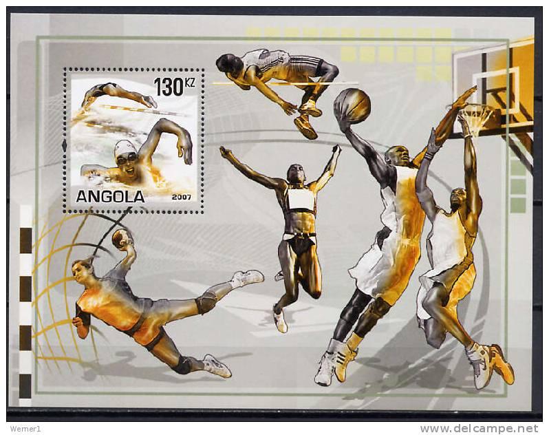 Angola 2007 Olympic Games Sport, Handball, Basketball Etc. S/s MNH - Balonmano