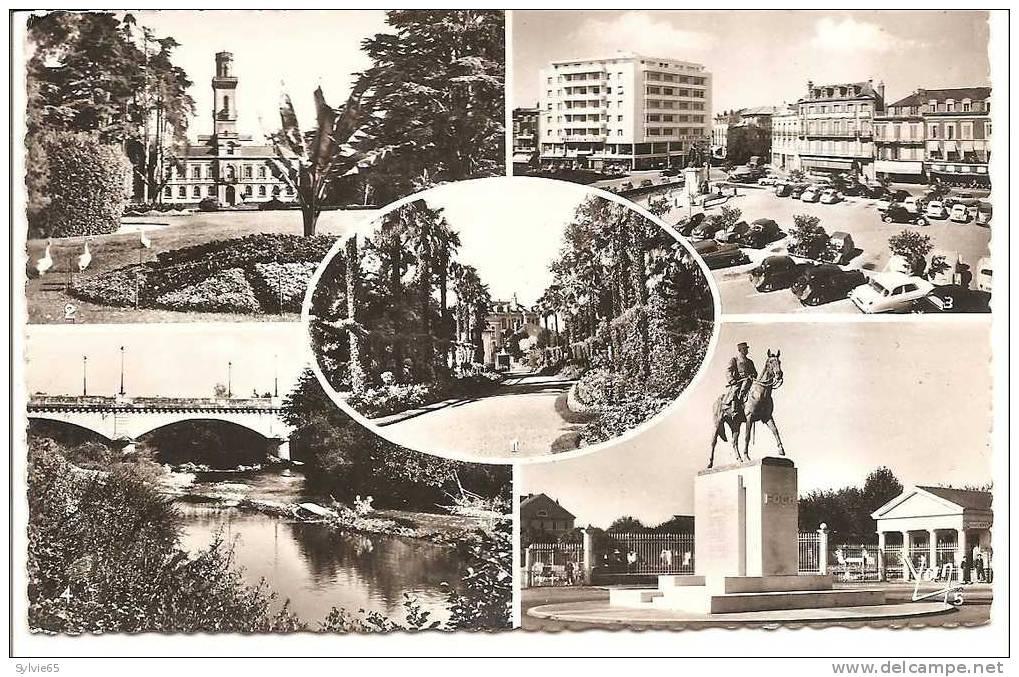 TARBES-multivues-jardin Massey,le Musée,place De Verdun Avec Parking Autoannée50,bords De L'adour,statue Foch - Tarbes