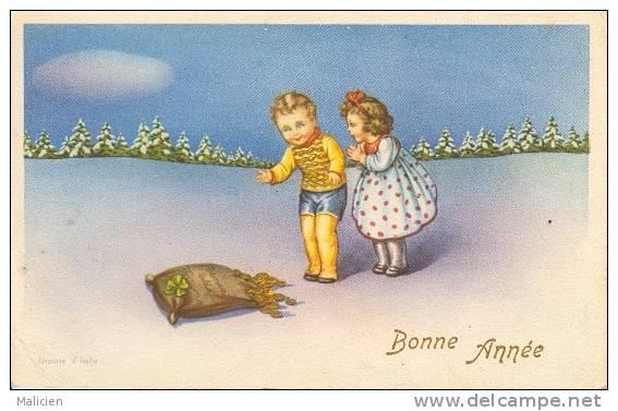 ILLUSTRATEURS-  Illustrateur  Enfants- Ref 546-bonne Année - Illustrateurs & Photographes