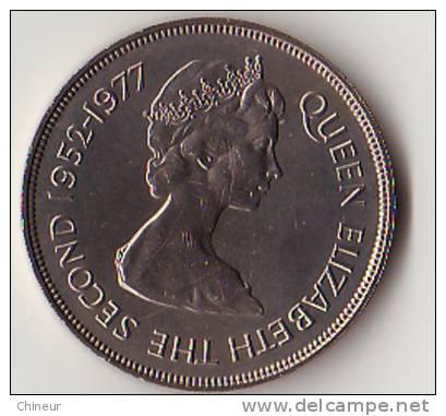 SAINT-HELENE 25 PENCE ARGENT 1977 - Sainte-Hélène