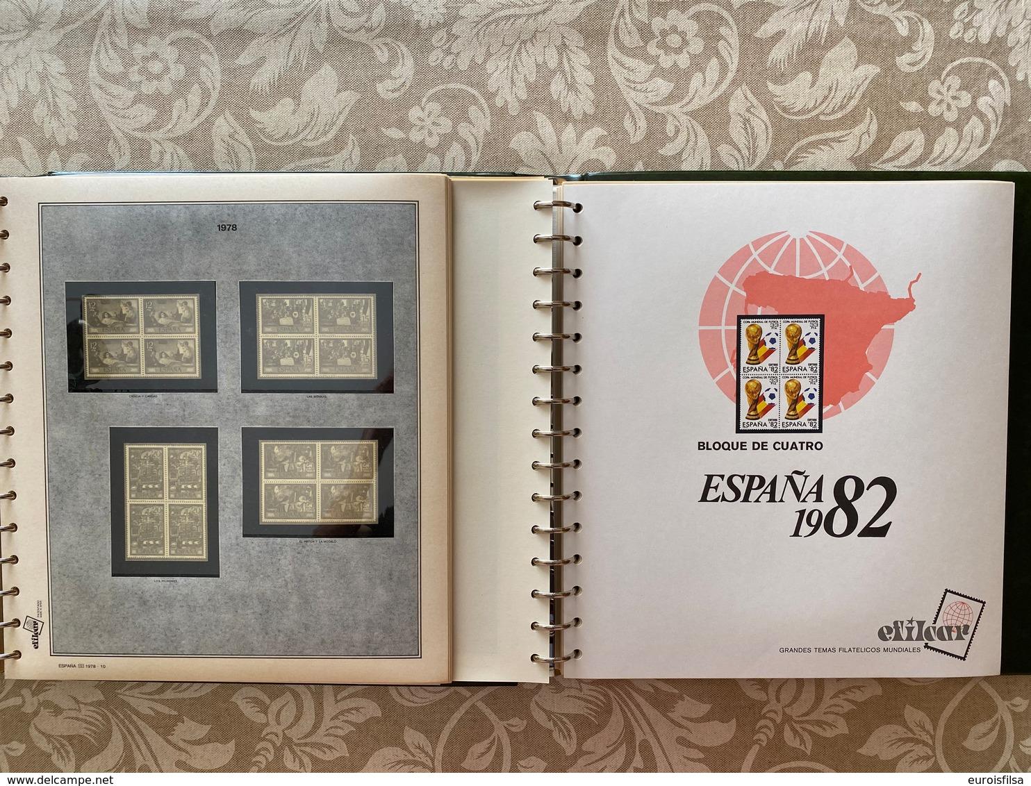 LOTE202, ESPAÑA, CINCO ALBUM CON SUPLEMENTOS BLOQUE 4, 1976/1997,  80% DTO. - Álbumes & Encuadernaciones