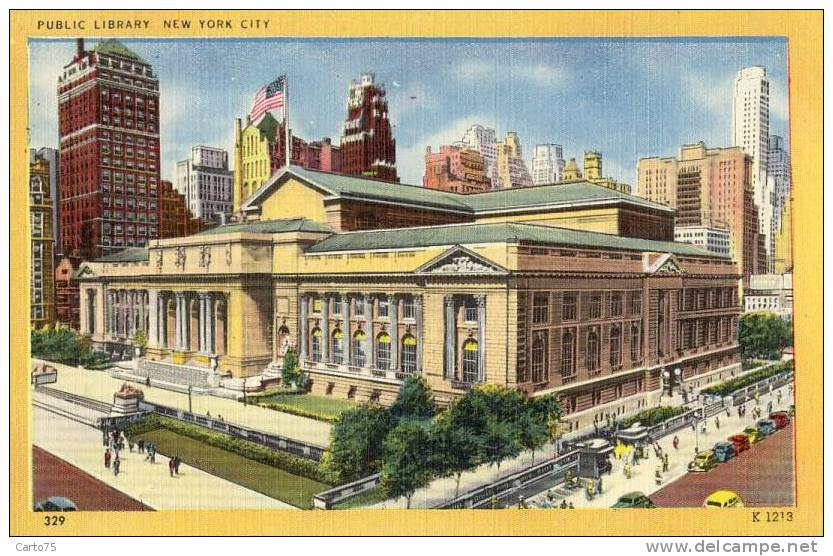 Architecture - Bibliotheque New York - Monuments