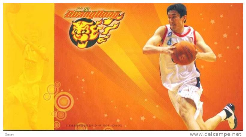 Du Feng- Player  - Guangdong Hongyan Basketball Team , Prepaid Card, Postal Stationery - Vlinders