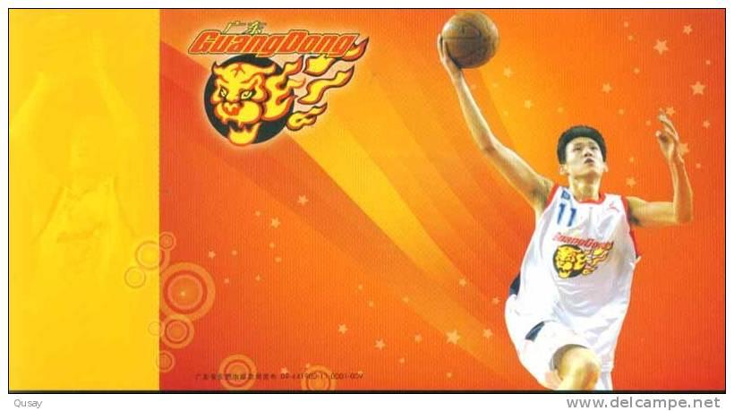 Zhou Peng  - Player  - Guangdong Hongyan Basketball Team , Prepaid Card, Postal Stationery - Vlinders
