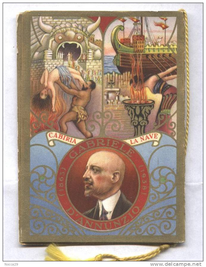 CALENDARIETTO 1939 POETI D´ITALIA: G. D´ANNUNZIO - CARDUCCI - MANZONI - TASSO - Calendars