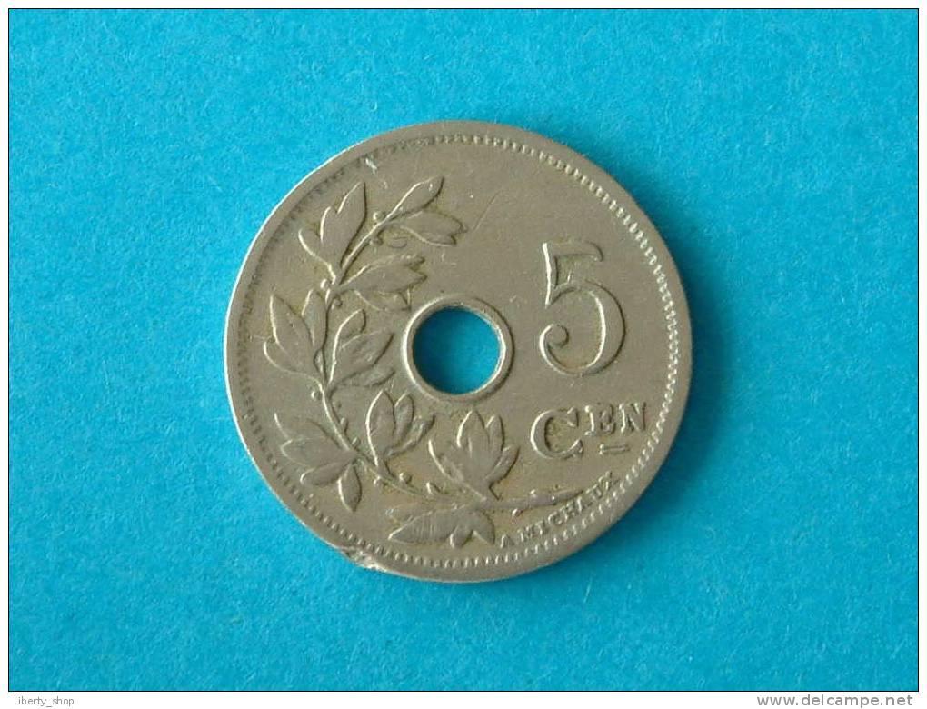 1906 VL - 5 CENTIEM (278) ! - 1865-1909: Leopold II