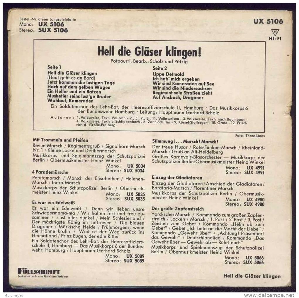 45T Hell Die Gläser Klingen - Vinyl-Schallplatten
