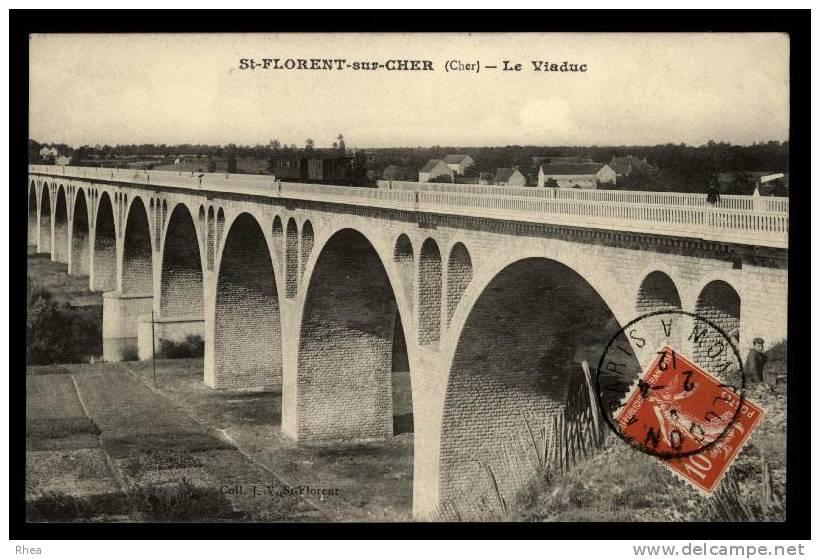 18 Saint-Florent-sur-Cher Pont Viaduc D18D K18055K C18207C RH080489 - Saint-Florent-sur-Cher