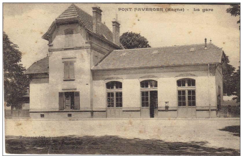MARNE. PONTFAVERGER. LA GARE - France
