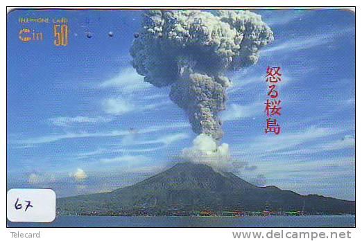 Volcan Volcano Vulkan Sur Telecarte (67) - Volcans