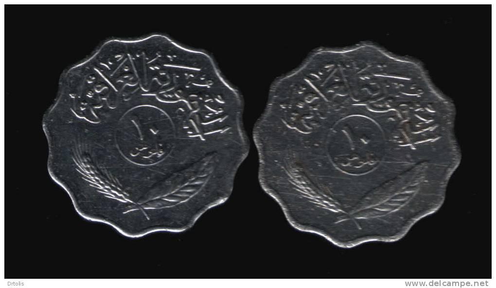 IRAQ / 1975 & 1979 / 10 FILS / 2 SCANS. - Iraq