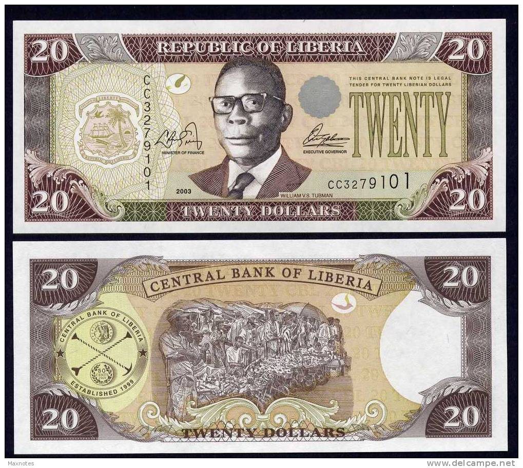 LIBERIA : Banconota 20 Dollari - 2006 - FDS - Liberia