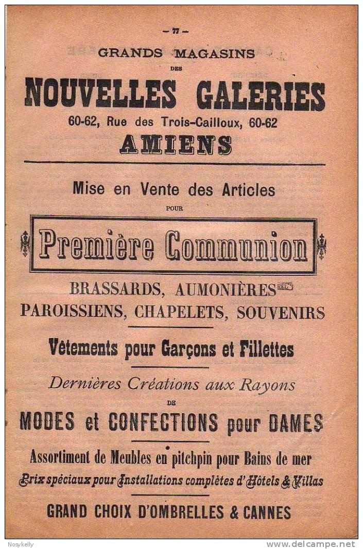 Buvard Des NOUVELLES GALLERIES  D´AMIENS -  80 SOMME - Blotters