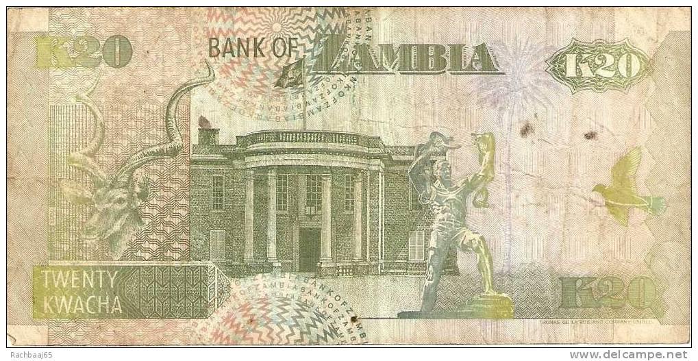 ZAMBIA 20 KWACHA   TB - Zambie