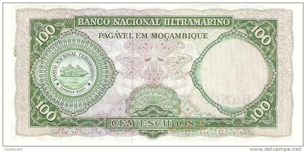 MOZAMBIQUE 100 ESCUDOS 1961 FDC - Mozambique