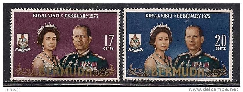 """Bermuda   """" Royal Visit""""    Set   SC# 316-17 Mint - Bermuda"""