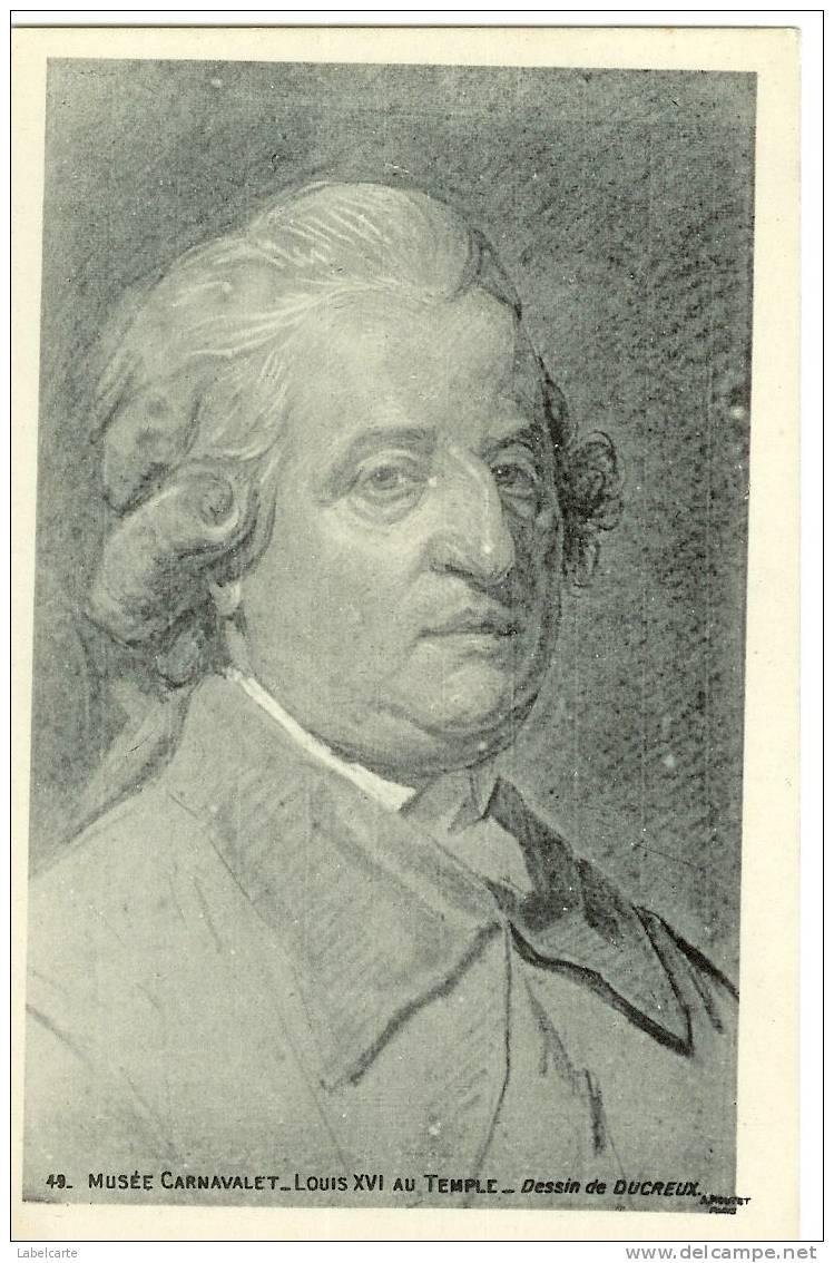 HISTOIRE.ILLUSTRATION.LOUIS XVI AU TEMPLE.DESSIN DE DUCREUSE - Histoire