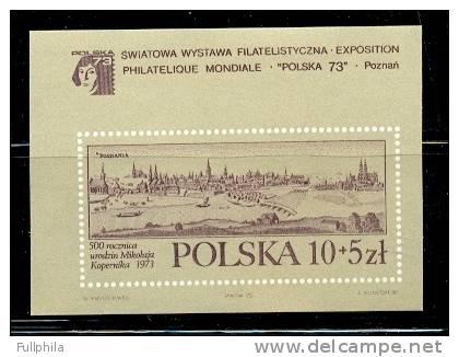 1973 POLAND SOUVENIR SHEET FOR PHILATELIC EXPOSITION MICHEL: B55 MNH ** - Blocks & Sheetlets & Panes