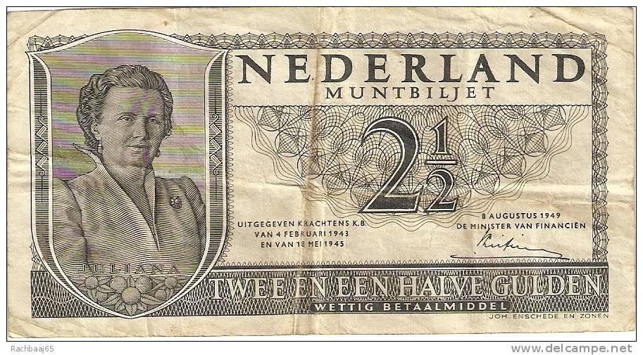 PAYS-BAS  2, 5 GULDEN     N°3OP  086424          08/08/1949   ETAT  TTB - To Identify