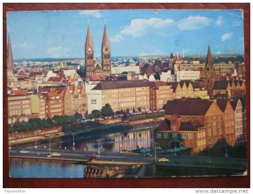 Bremen - Panorama über Smidt Brücke - Bremen