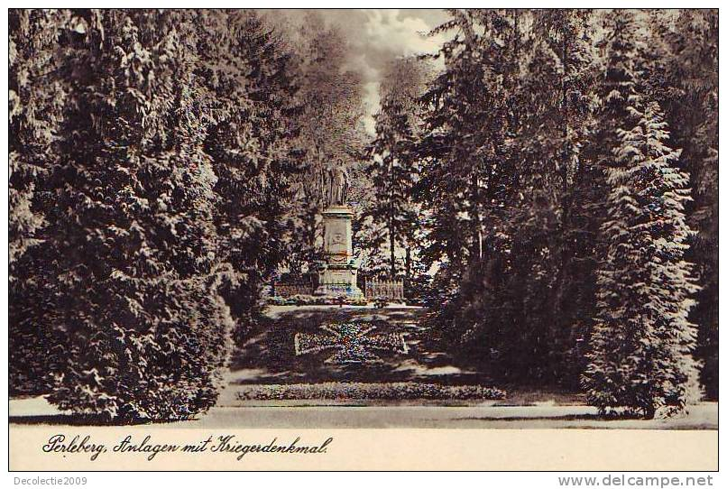 Z5044 Germany Brandenburg Perleberg An;agen Mit Kriegerdenkmal Uncirculated - Perleberg