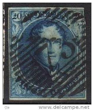 4A Obl  73 Liège  Cob 70  4 Marges - 1849-1850 Medallions (3/5)