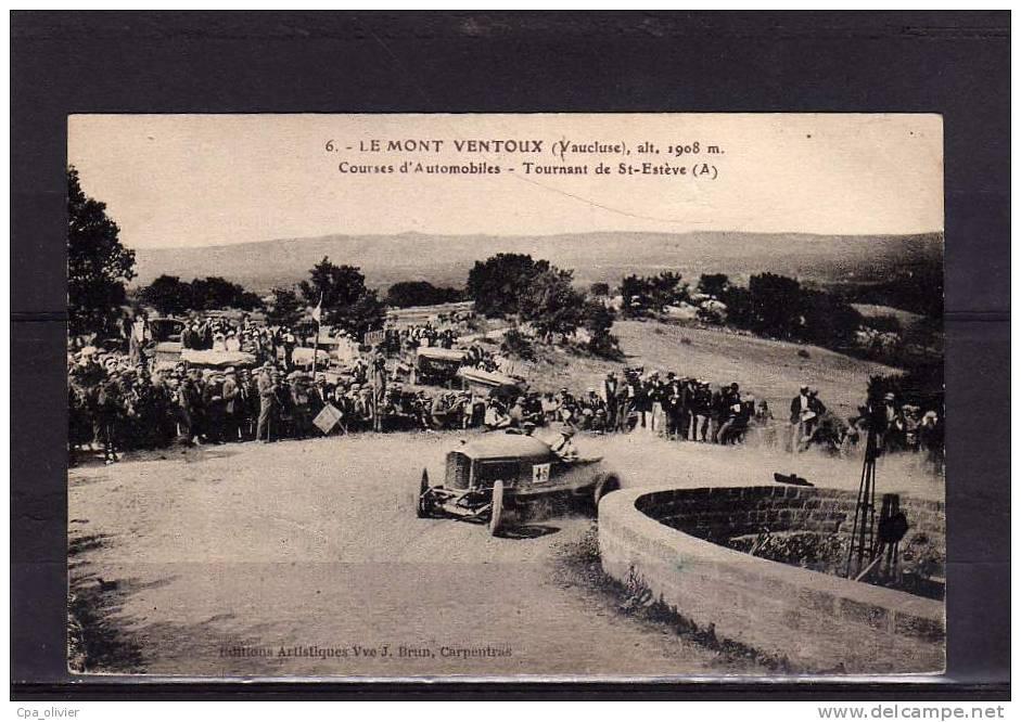 84 MONT VENTOUX (envs Carpentras) Courses Automobiles, Tournant De St Estève, Sports, Ed Brun 6, 191? - France
