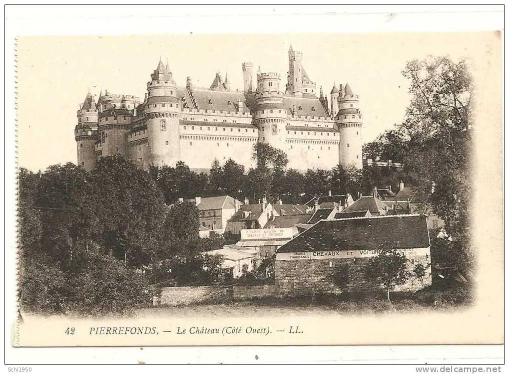 PM -   Chateau   Pierrefonds Côté Ouest - Castles