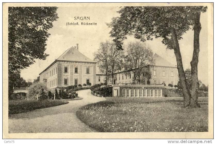 Pologne - Sagan - Zagan - Schloss Rückseite - Pologne