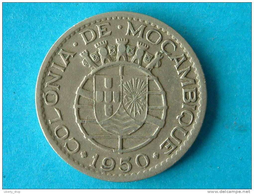 ONE ESCUDO 1950 / KM 77 ( For Grade, Please See Photo ) ! - Mozambique