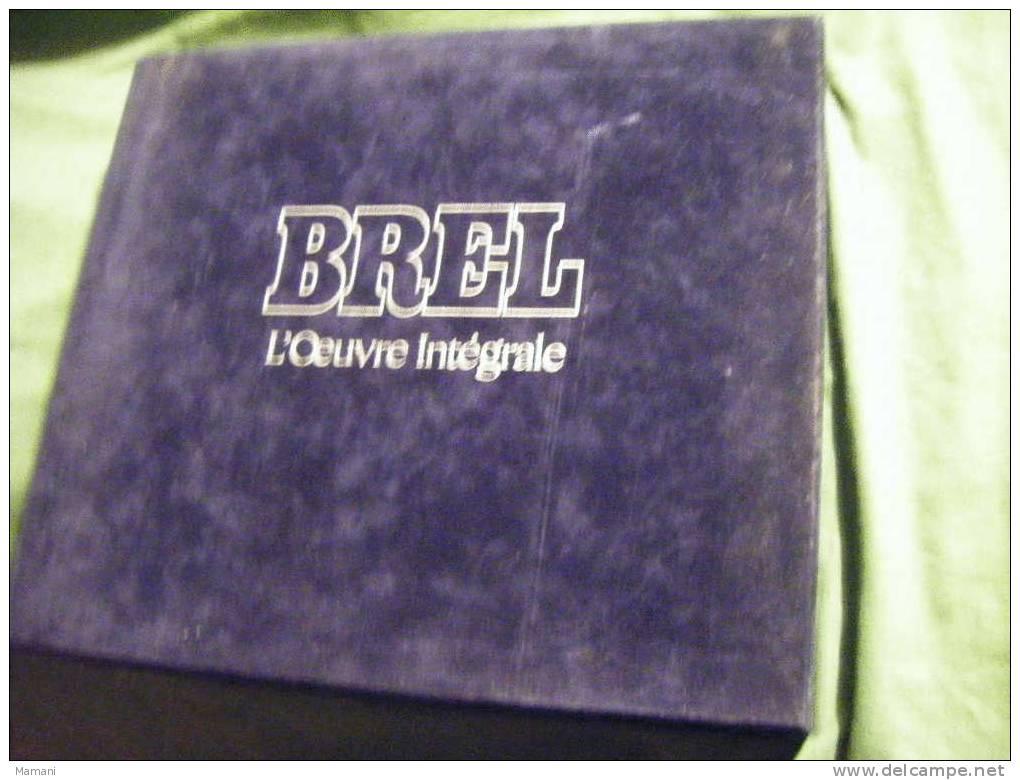 Coffret De 14 Disques -l´oeuvre Integrale - De Brel-barclay----- - Vollständige Sammlungen