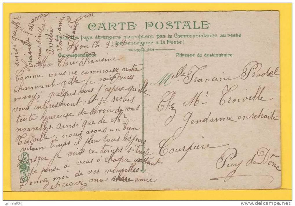 - 52 -  LYON -  Le Pont Du Midi -  De La Couleur, Animation, écrite, Timbre Semeuse, Cachet Du 2 Novembre 1909. - Lyon