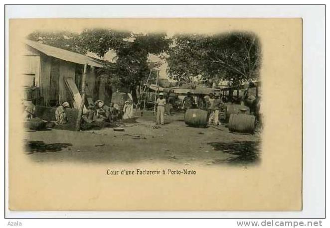 008254  -  DAHOMEY  -  Cour D'une Factorerie à Porto-Novo - Dahomey