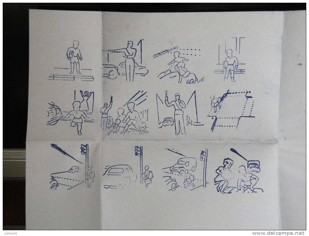 Ancienne Boîte De Tampons à Encrer Pour Les écoliers,Timbres éducatifs Code Piéton,Jean Pierre,Paris - Scrapbooking