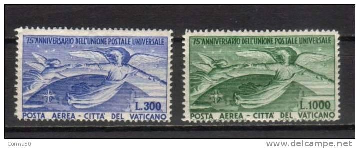 1949  Vaticano - Aerea   UPU  La Serie Cpl. 2  Valori Nuovi** - Neufs