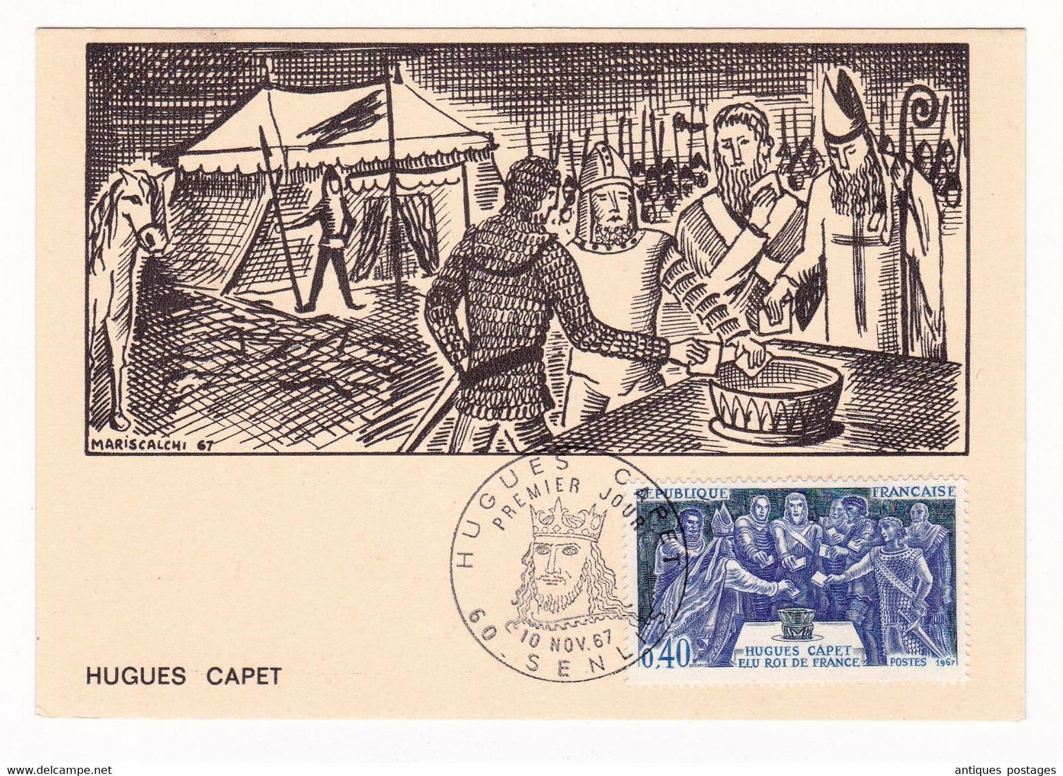 Carte Maximum 1967 Hugues Capet Senlis Oise - History